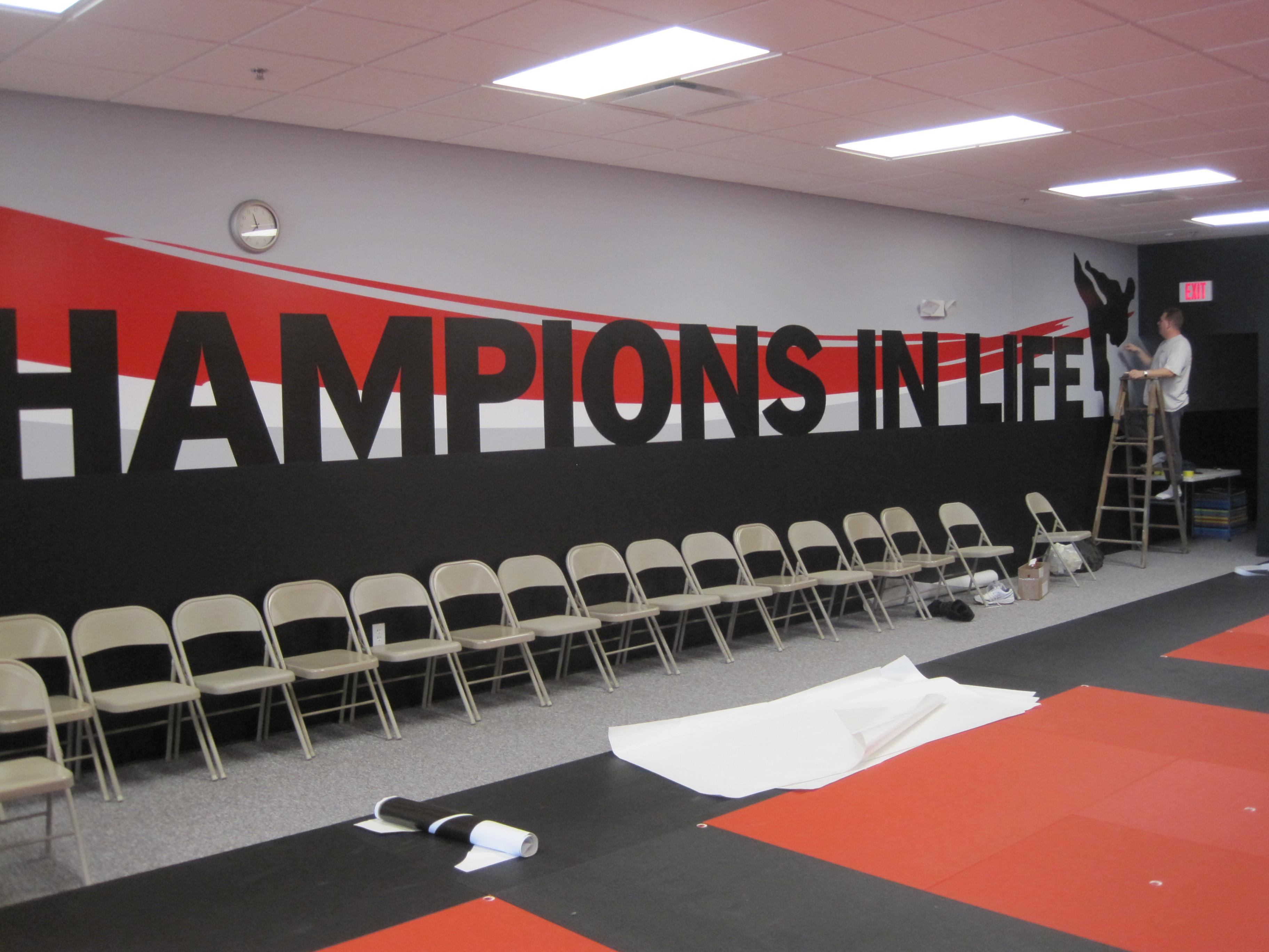 Wall Vinyl seen in Black Belt Karate Studio Racine WI