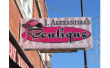 J. Alexandra's Boutique Building Sign